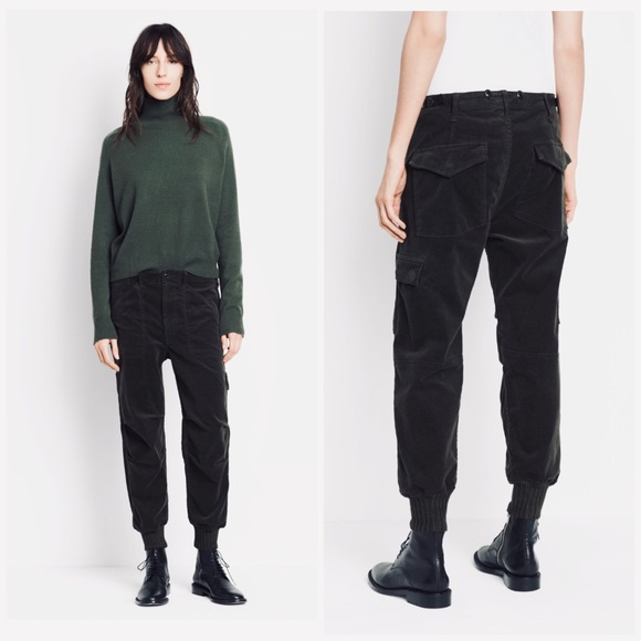 limited guantity website for discount drop shipping VINCE Black Slouchy Military Jogger Pants 10